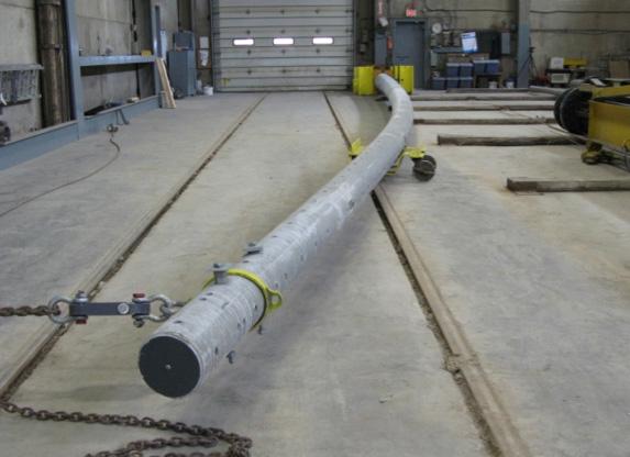 Conduit In Concrete Pole : Usi utility structures inc concrete poles